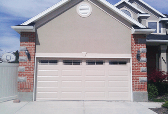 After image of residential garage door, Utah County